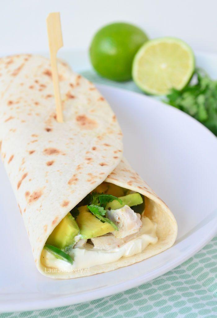 tortilla-s met limoen kip en avocado 1b