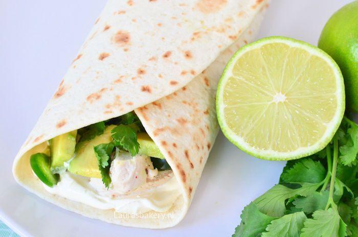 tortilla-s met limoen kip en avocado 2b
