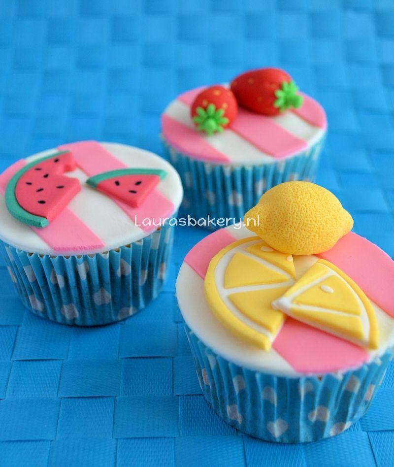 zomerse fruit cupcakes 1a