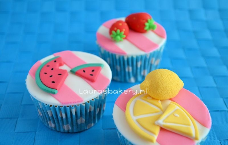zomerse fruit cupcakes 2a