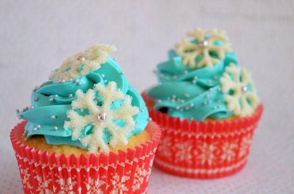 Advent 11: Cupcakes met chocolade sneeuwvlokken