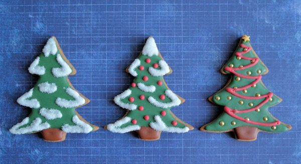 Advent 13: 3x Kerstboom koekjes
