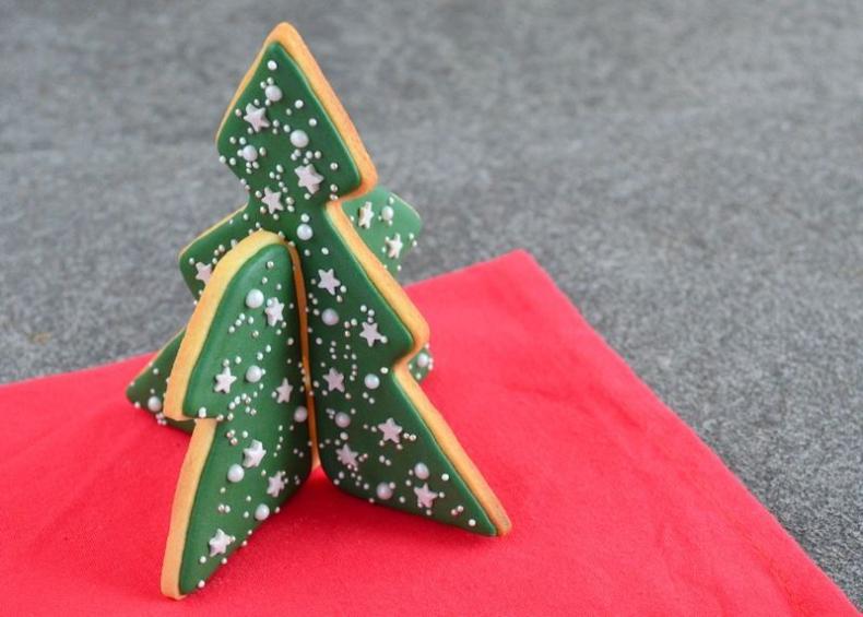 3D koekjes kerstboom