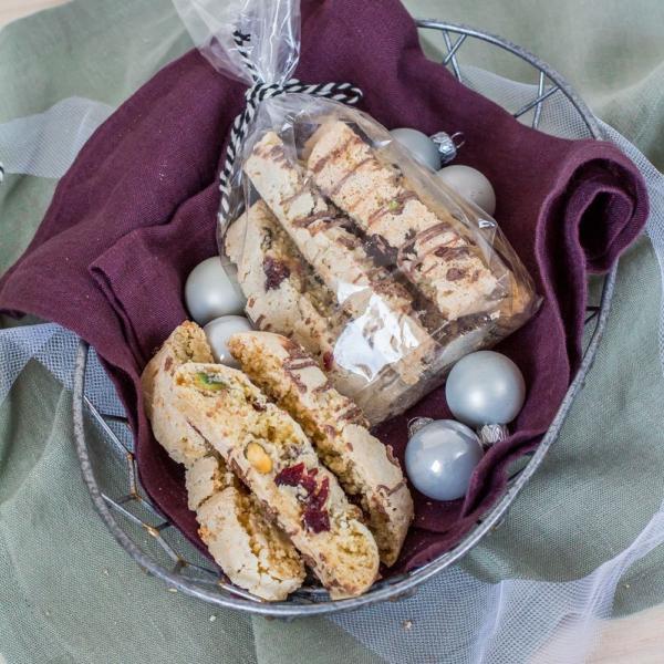 Cantuccini met pistache en cranberry's