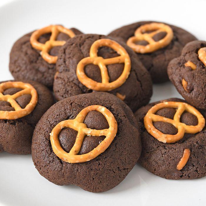 Chocolade-pretzel koekjes