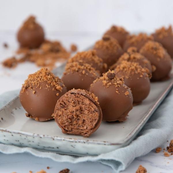 Chocolate chip cookie truffels