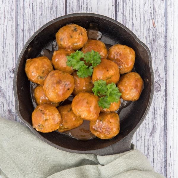 Abrikoos-chipotle gehaktballetjes