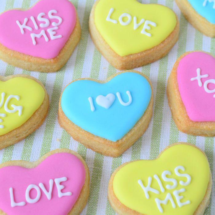 Harten koekjes met lieve boodschap