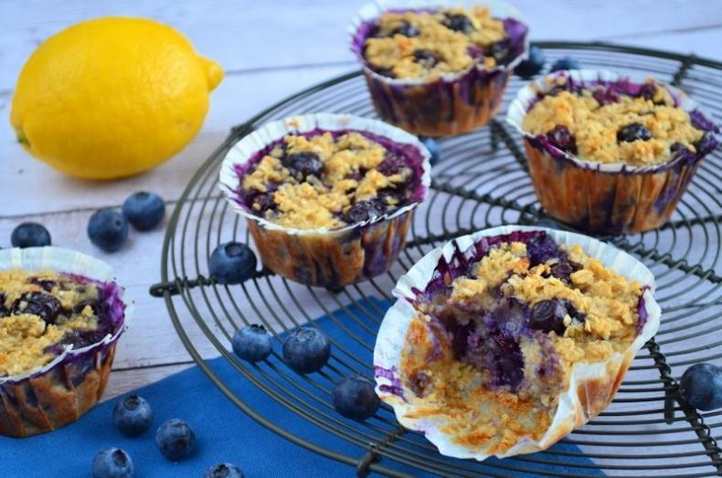 Havermout muffins met bosbessen