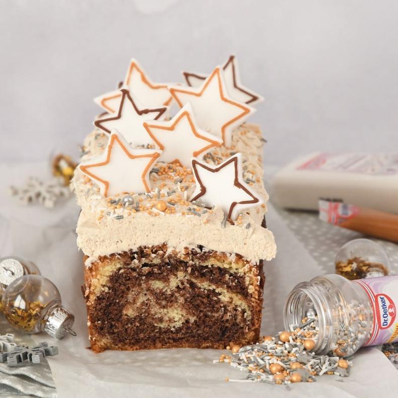 Kerststerren marmercake