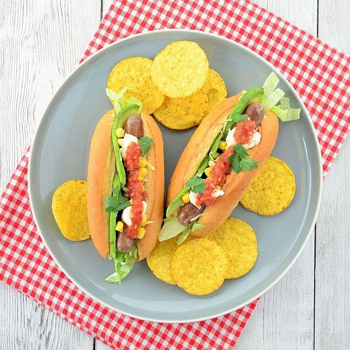 Mexicaanse hotdogs