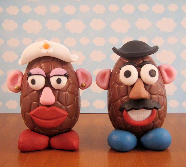 Mr. & Mrs. Potato Easter egg head