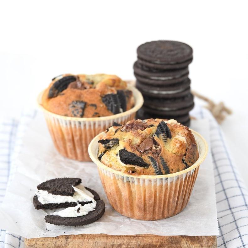 Oreo-Nutella muffins