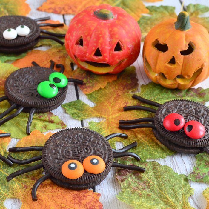 Halloween Oreo spinnen