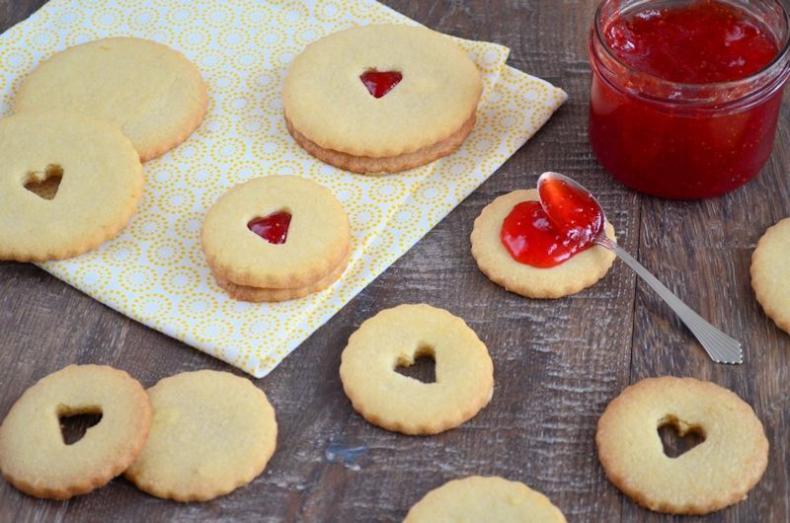 Valentijn sandwich koekjes
