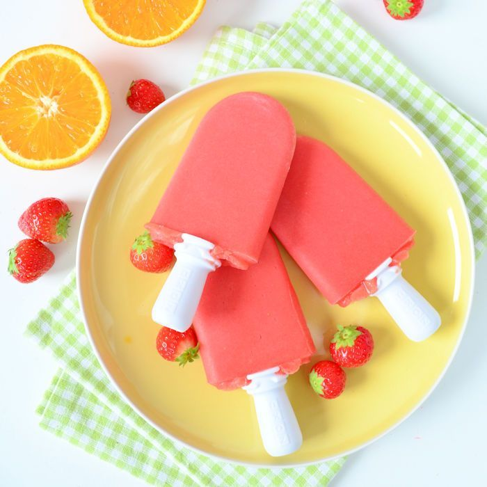 Aardbei sinaasappel ijsjes