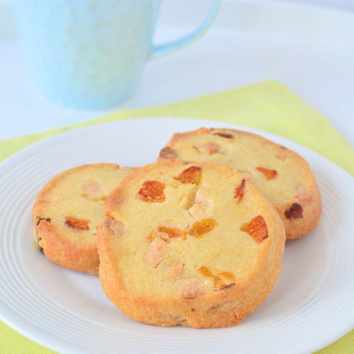 Abrikozen koekjes met witte chocola
