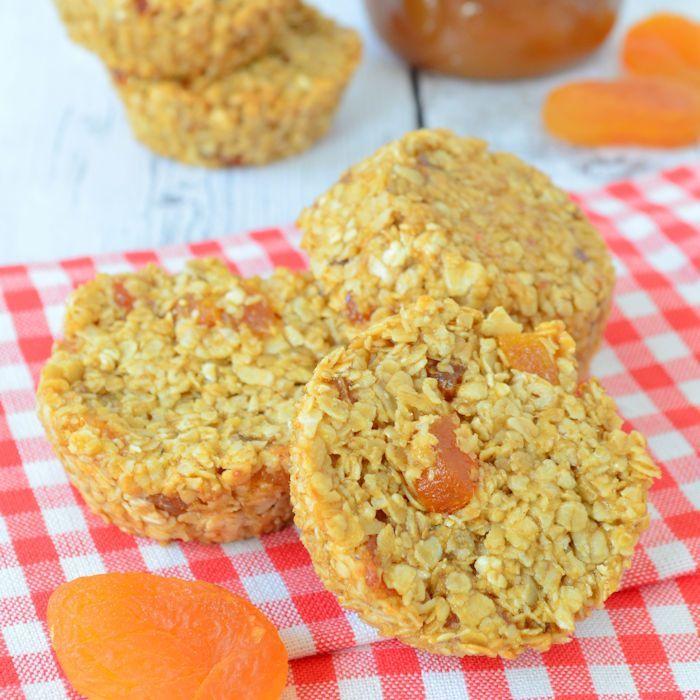 Abrikozen mueslirepen met zoete aardappelcrème
