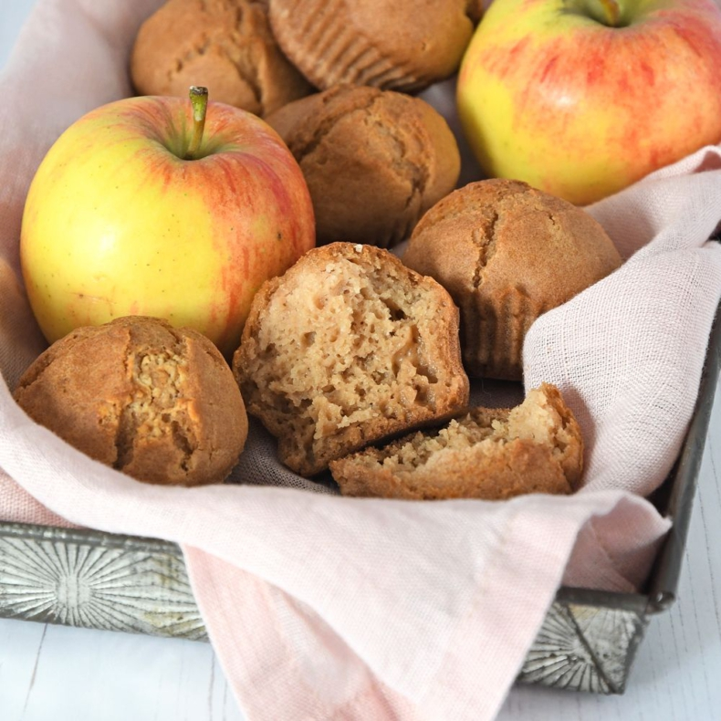 appelmoes muffins