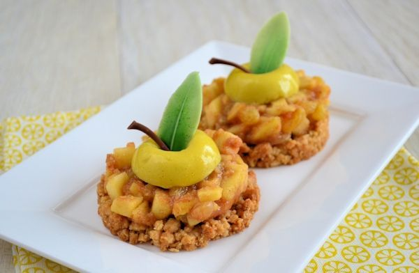 Appelkruimel gebakjes