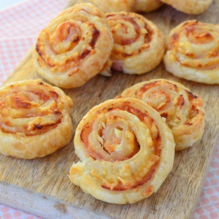 Bacon roomkaas spiralen