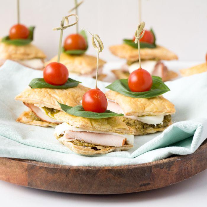 Bladerdeeg sandwiches
