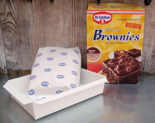 Brownies uit een pakje