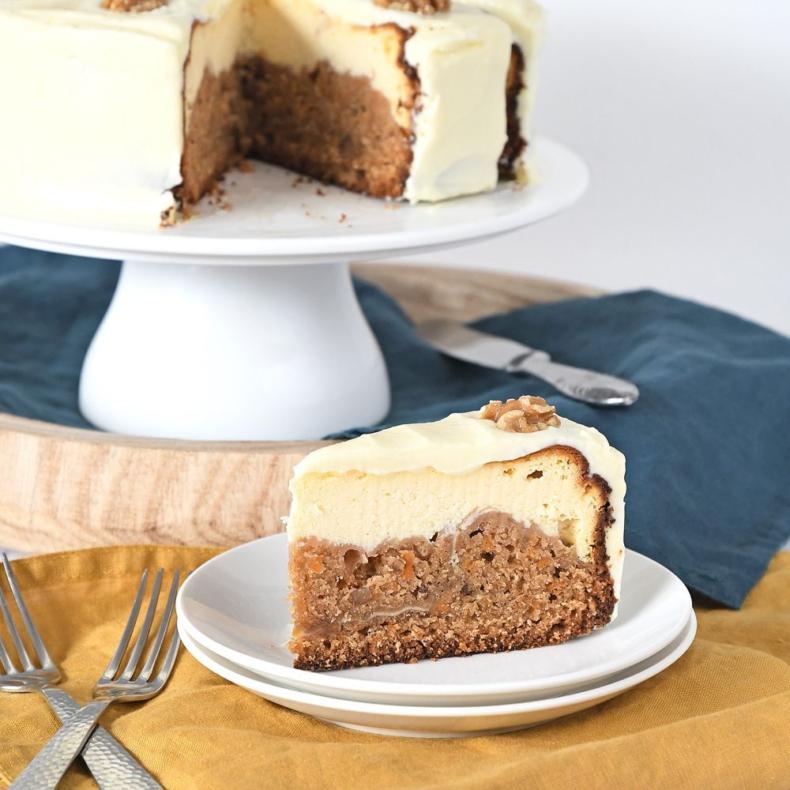 Carrot cake cheesecake + review Cheesecake