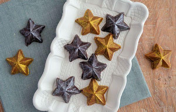 Advent 13: Zilveren en Gouden Chocolade Sterren