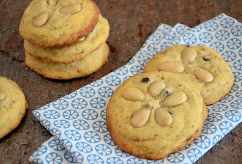 Amandel chocolate chip koekjes