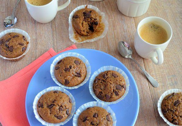 Chocolate chip koffie muffins