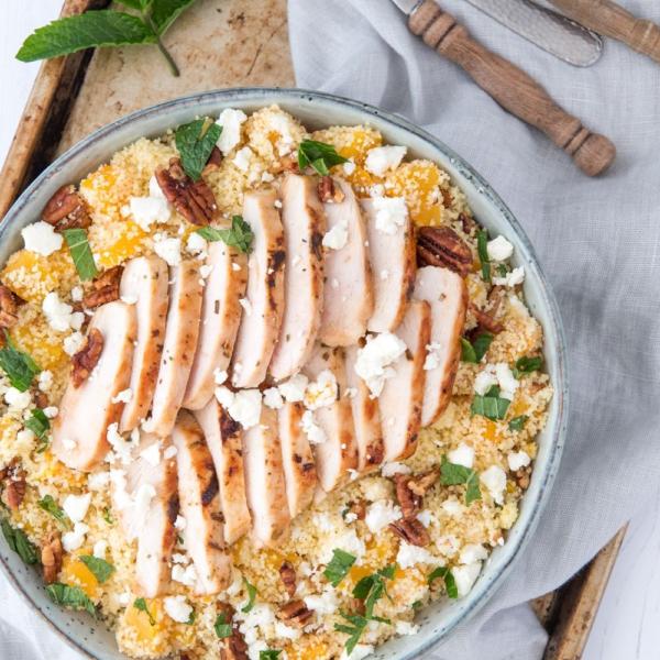 Couscous met kip en perzik