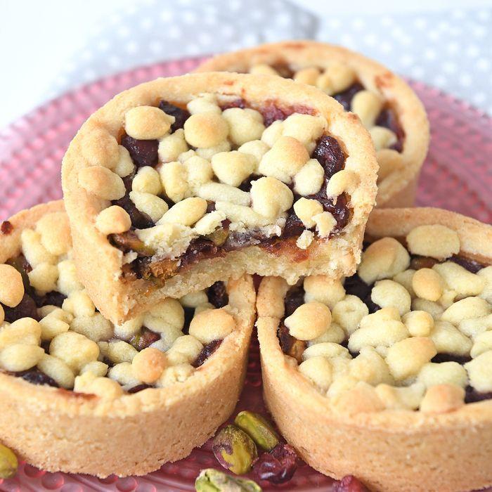 Cranberry-pistache rondo's