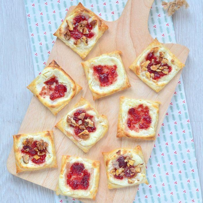 Cranberry roomkaas taartjes