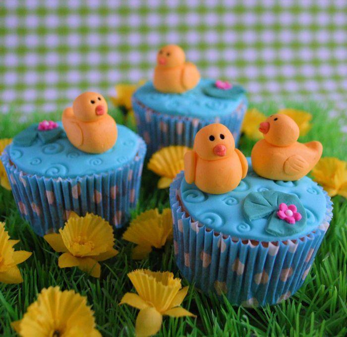 Op de boerderij: Eendjes cupcakes