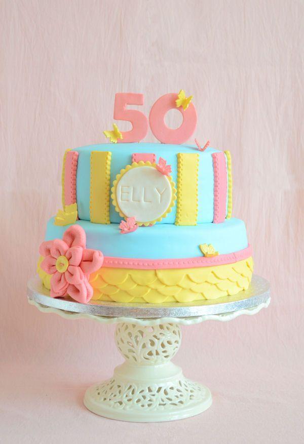 Modern vintage cake