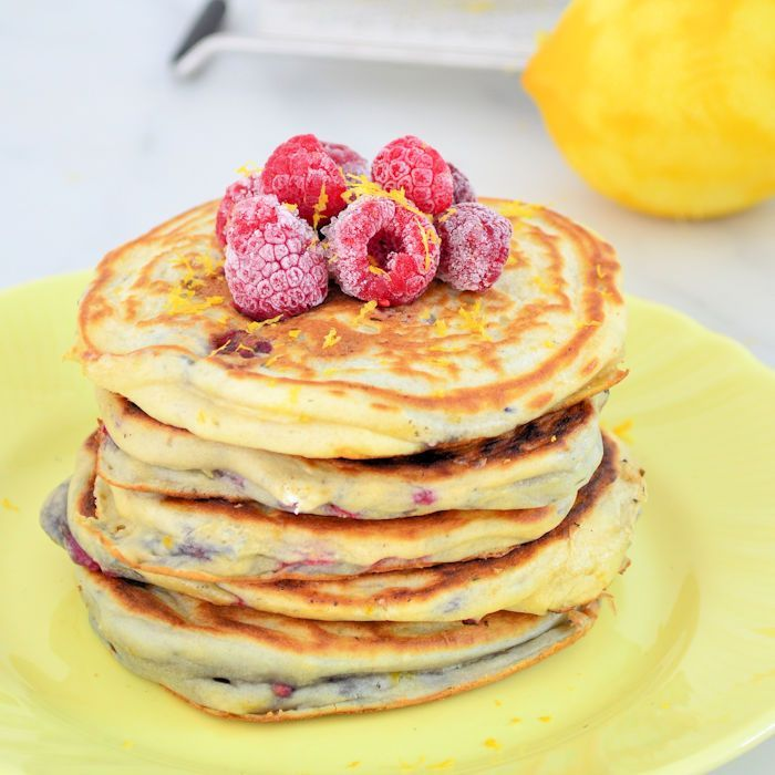 Frambozen-citroen pancakes