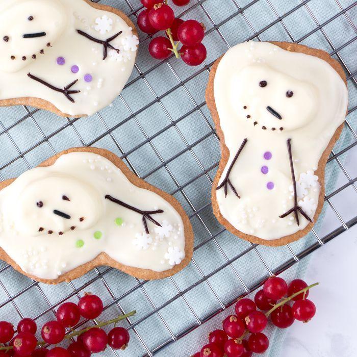 Gesmolten sneeuwpop koekjes