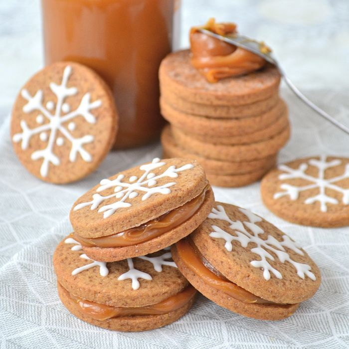 Gingerbread sandwichkoekjes met karamel