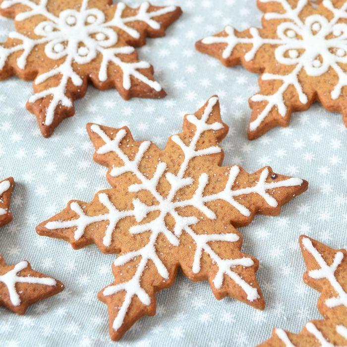 Gingerbread sneeuwvlokken koekjes