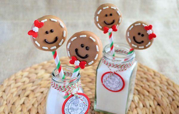 Advent 12: Gingerbread Man Oreo Pops
