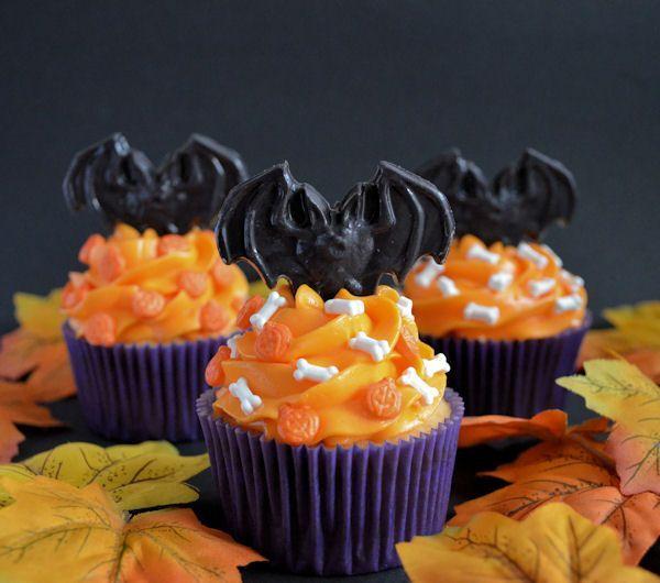 Halloween: Vleermuizen cupcakes