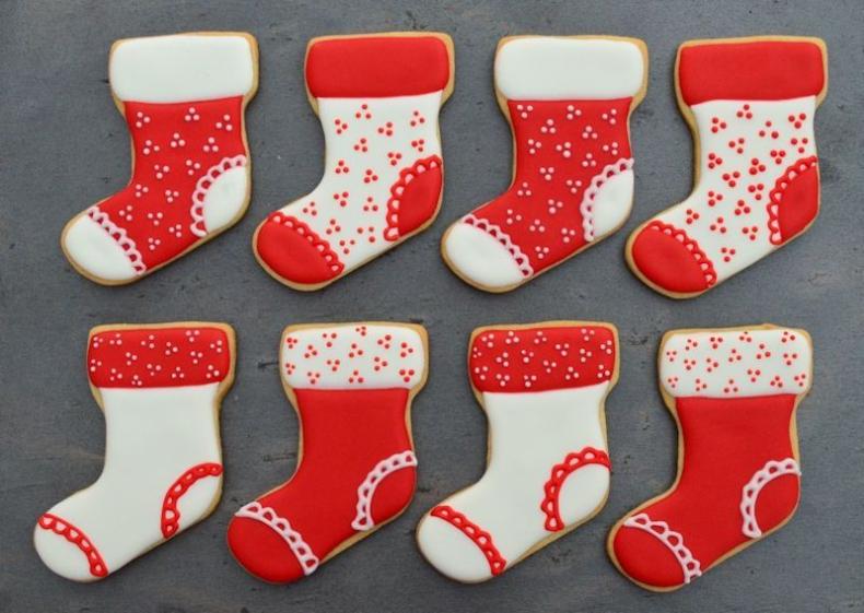 Kerstsokken koekjes