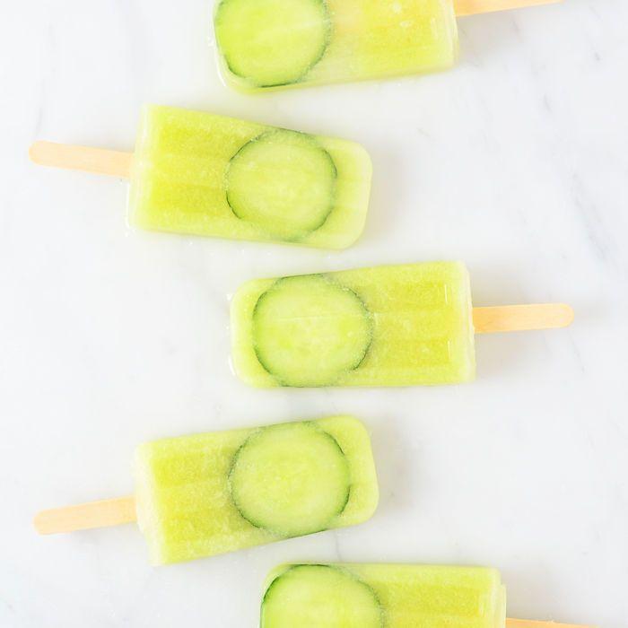 Komkommer limoen ijsjes