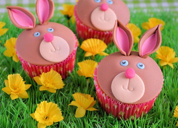 Op de boerderij: Konijnen cupcakes