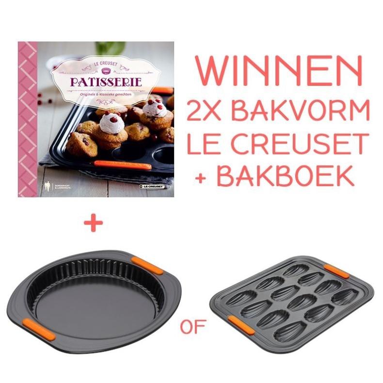 Winnen: 2x Le Creuset bakvorm + bakboek!