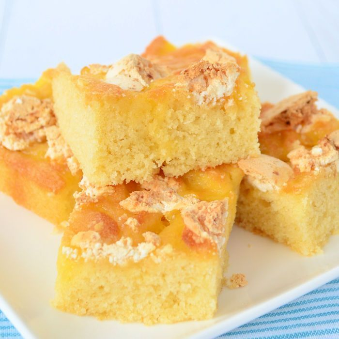 Lemon meringue plaatcake