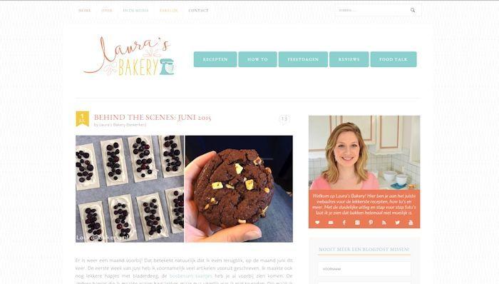 Nieuw design Laura's Bakery!