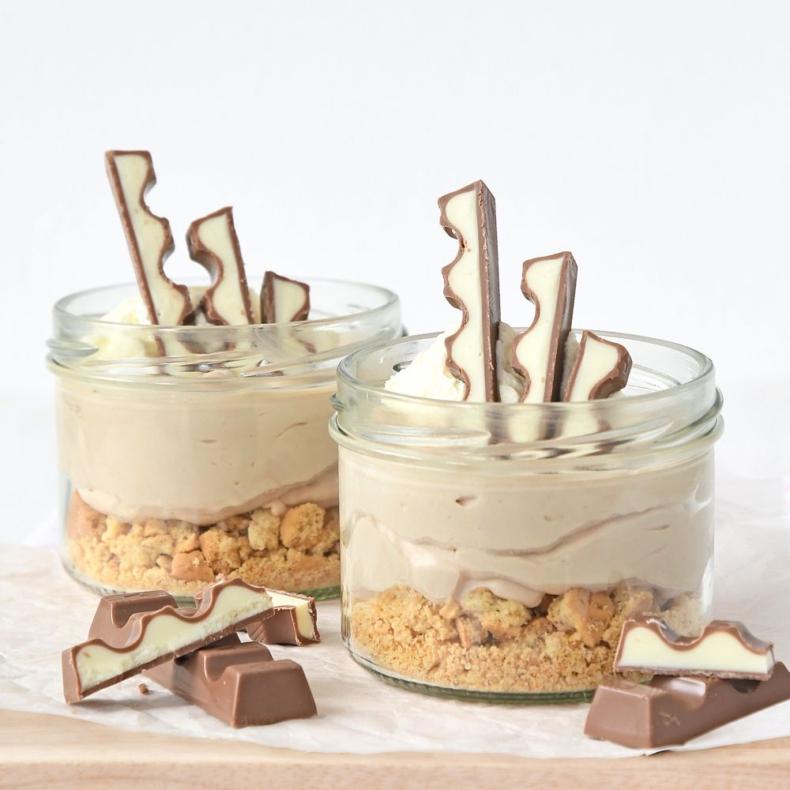 no bake kinder chocolade mini cheesecakes