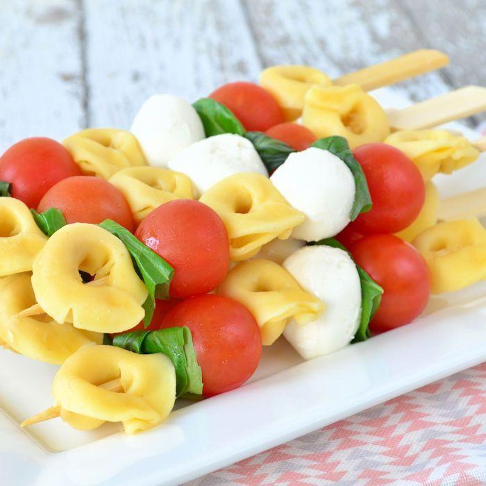 Pasta salade spiesjes